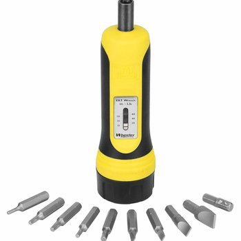 Wheeler 553556 Fat Wrench Racheting Screwdriver 10 Bits