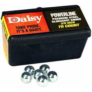 Daisy Powerline Premium 3/8 Inch Slingshot Ammo 70 Count