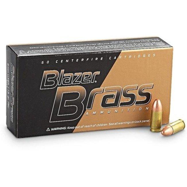 CCI 9mm Blazer Brass FMJ Blazer 9 mm 124GR 50/box