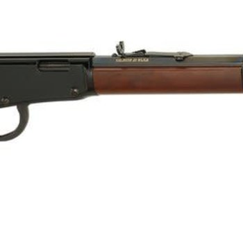 Henry Henry Lever Rifle h001m 22 WMR Ambi, 19.25 in, Blued, Wood Stk 11+1 Rnd