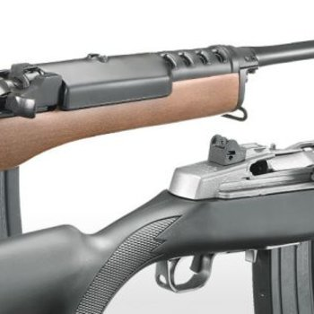 Ruger Ruger  Mini-14 Ranch Semi Automatic Rifle 5.56 NATO, RH, 18.5 in, Blue, Wood Stk, 5+1 Rnd