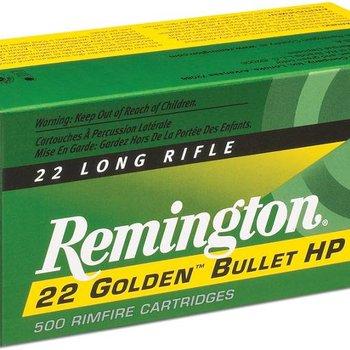 Remington Remington Golden Bullet Rifle Ammo 22 LR, PLRN, 40 Grains, 1255 fps, 100 Rounds, Boxed