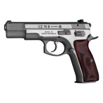 CZ CZ 75 S.S. Semi-Auto Pistol, 9MM, 4.5''Bbl, New Edition S.S.Frame, WoodGrip, 10Rnd,SA/DA,TritiumSights,Decocking+ManuSafety
