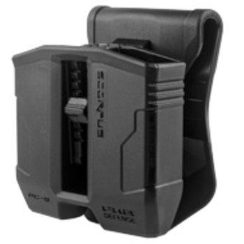 FAB SCORPUS Double Mag Pouch Glock 9/.40 Paddle/Belt Blk