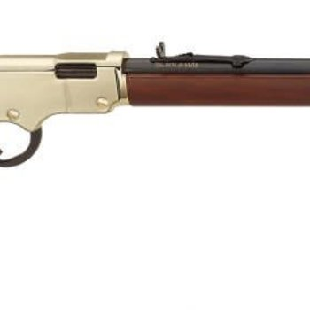 Henry Henry Lever Rifle H004 22LR  Ambi BluedWood Golden Boy 20 In 16+1rd