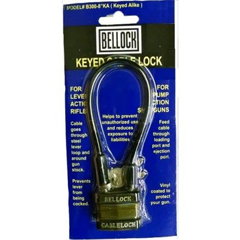 BELLOCK Keyed Cable Lock   B300-8 (Keyed Alike), 8''