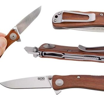 SOG Twitch II - Wood Handle
