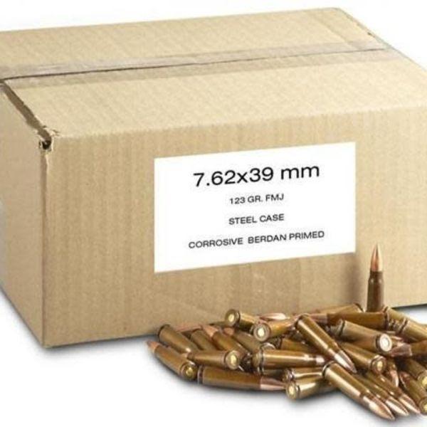 7 62x39 army surplus ammo fmj 123gr 20ct box czech republic solely
