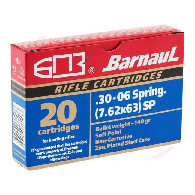 Barnaul 30-06 Sprg 140gr SP 20/box