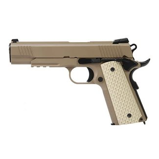 Kimber 1911 type TAN with extended barrel and silencer