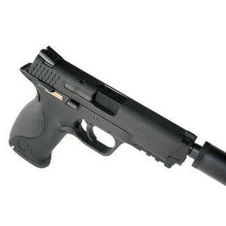 WE M&P Black w extended barrel and silencer