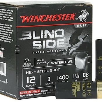 WINCHESTER Winchester Blind Side Shotshell 25rd/Box 12Ga 3-1/2In SBS12L2No. 2, 1-5/8 oz, Max Dr 1400