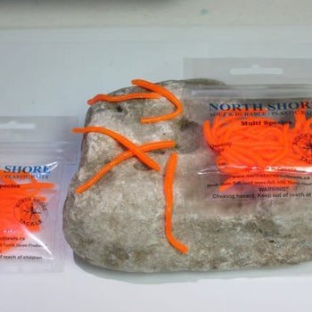 North Shore North Shore Tackle GLOW ORANGE   2.5'' trout worms
