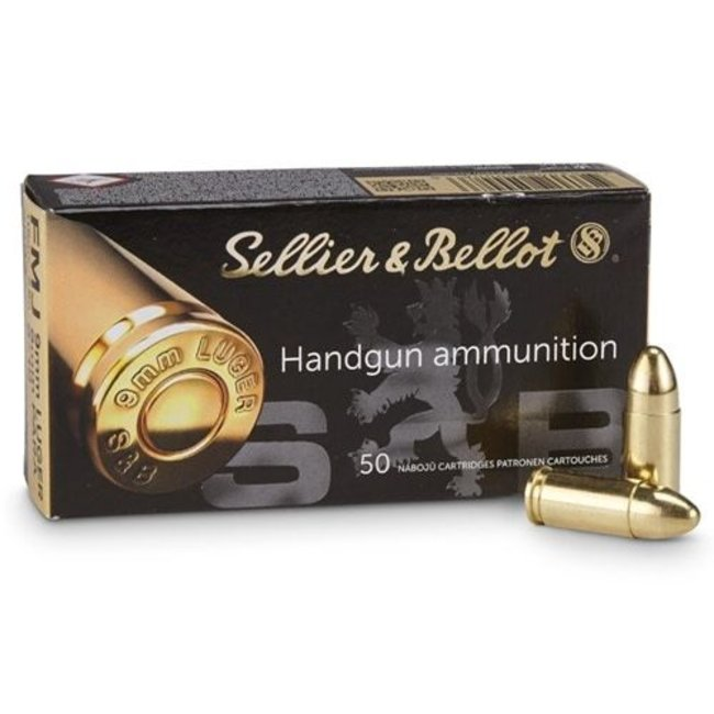 Sellier & Bellot (S&B) 9mm PARA 124 FMJ 1000rd