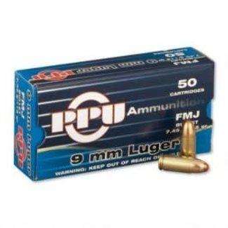 PPU Prvi Partizan PPU 9mm Luger 115 Gr FMJ 50/box