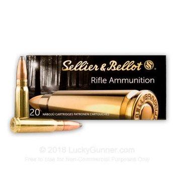 Sellier & Bellot SELLIER & BELLOT 7.62X39 FMJ TARGET AMMUNITION, 124 GRAIN BOX OF 20