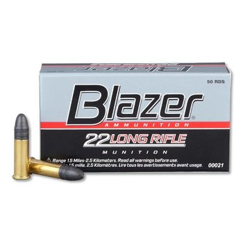 CCI CCI Blazer .22 LR ammo High Velocity Ammunition 50 Rounds Lead Round Nose 40 Grain 1,235 fps single
