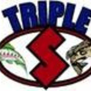 Triple S Warrior 4 3/4'''' ELITE PURPLE ALEWIFE UV BLACK BACK W/PURPLE SIDE WHT/BELLY''