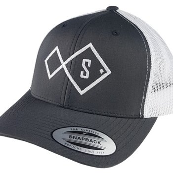 stryk fishing appreal Stryk Big Fish Cap Charcoal (grey/white)