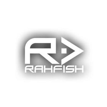 2109df0ff7c RAHFISH RAHFISH BIG R WHITE L size W  BLK TEE