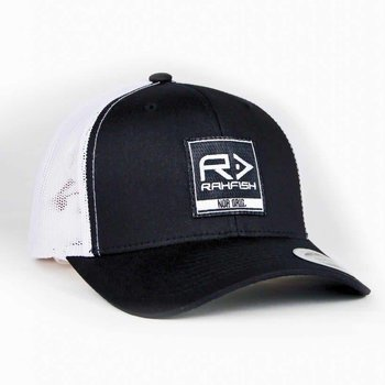 RAHFISH RAHFISH BIG R 2×2 TRUCKER HAT – BLACK / WHITE