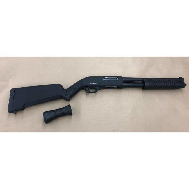 Canuck Regulator/Defender Combo Pump Action Shotgun, 12 Gauge, 3'', 14'' Barrel, Synthetic Bird Head Style Grip and Fixed Stock, CRDC 1214
