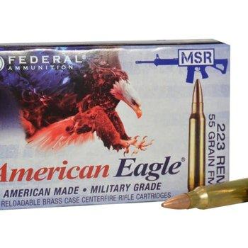Federal Federal  American Eagle 223 rem BULK 500/box Lake CIty MSR Ammo 223 REM/5.56 NATO FMJ-BT, 55 Grains, 3240 fps,