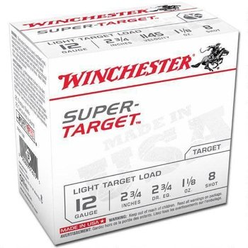 WINCHESTER Winchester TRGT128 Super-Target Trap Load 12 GA, 2-3/4'',  1-1/8 oz, 2-3/4 dr, 25 Rnds, in box single