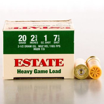 Estate Estate Heavy Game Load 20ga 2 3/4'' 1 oz 7.5