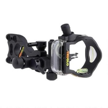 TRUGLO TRUGLO Micro Brite 3 Pin Lighted Bow Sight Black