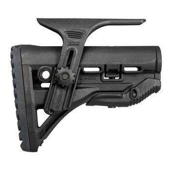FAB AR15 Shock Absorbing Butt Stk w Adj. Cheekpiece Black