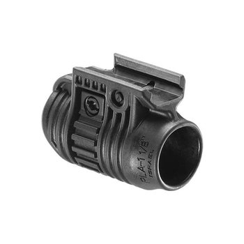 FAB 1'' Flashlight & Laser Adaptor Black