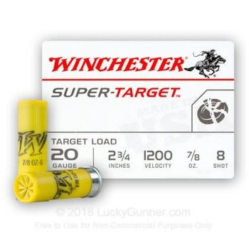 WINCHESTER Winchester super-target 20ga, 2-3/4 , 7/8oz,  #8 / 250Rounds