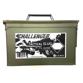 Challenger Challenger 12ga 2 3/4 Tactical slug  magnum - Can of 175 Shells #04150