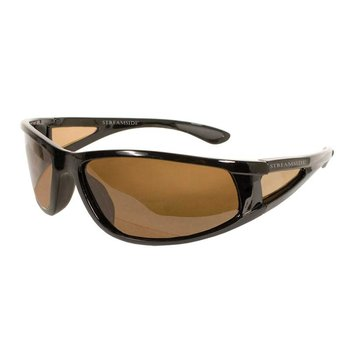 Streamside Wrap Around Sunglasses - Brown / W Case