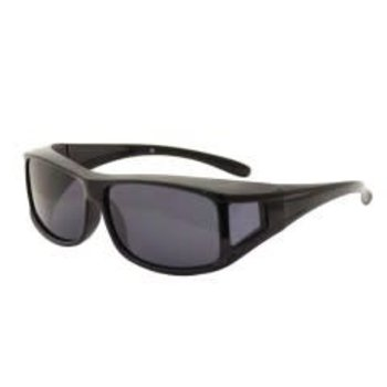 Streamside Wrap Around Sunglasses - Smoke / W Case