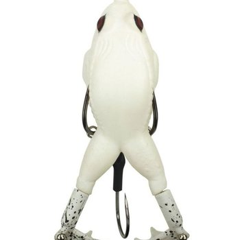 Lunkerhunt Lunkerhunt Prop Frog Soft Bait - Pearl
