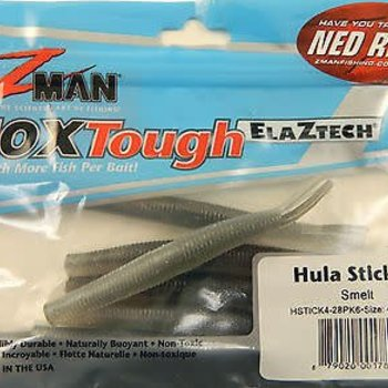 "Z-man Z-man Hula Stickz Lures 4"" Smelt 6 Pack"