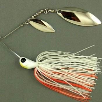 Ultra Tungsten T-Blade Tungsten Spinnerbait - Creamsicle Double Willow Silver 5/8 oz