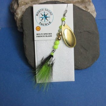 North Shore French Blade Spinner - Chartreuse Flash Blade