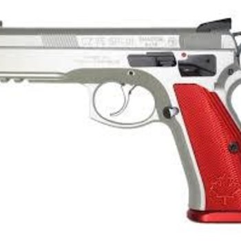 CZ CZ 75 Shadow Canadian Semi-Auto Pistol, 9MM, Stainless steeel frame, red alum grip, 10 rnd,