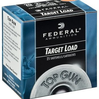 "Federal Federal Top Gun Target Shotshells TG2075, 20 Gauge, 2.75"", 7/8 oz, 1210 fps, #7.5 Shot, 25 Rd/case single"