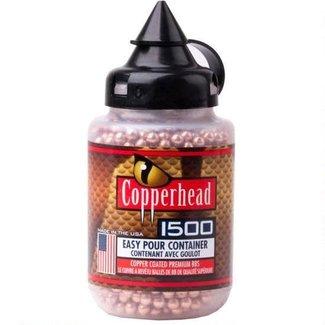 Crosman Copperhead BBs .177 Caliber Stainless Steel Copper Coated, 5.23 Grain, 1500 Round