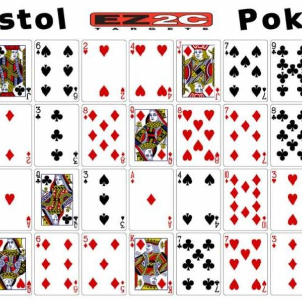 "EZ2C EZ2C Target poker target 25ct/pack 12""x18"""