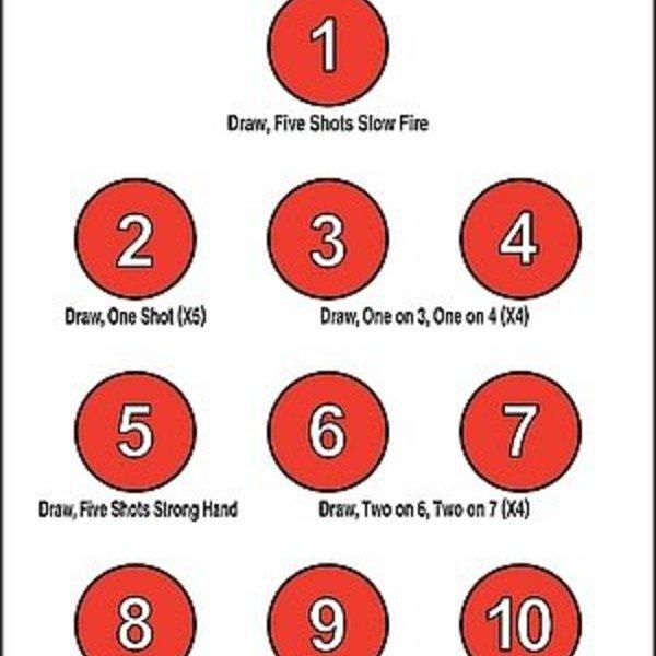 """EZ2C EZ2C Target  25ct/pack Style 17 11"""" x 17"""""""