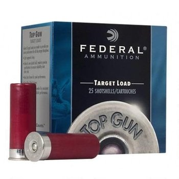 "Federal Federal Top Gun Target 12Ga. 3 Dram, 2-3/4"" #7.5 Lead Shot 1-1/8 Ounce 1200fps 25rds single"