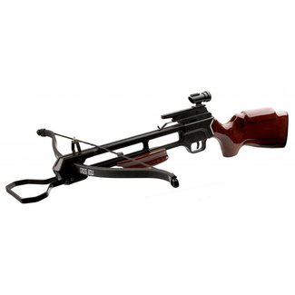 MTECH USA Crossbow 35'' 150LB Draw Weight Dark WOOD STOCK W/2 16'' Arrows