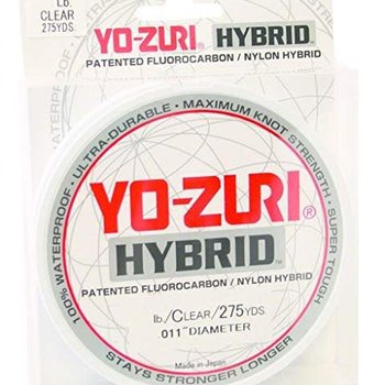 Yo-Zuri Yo-Zuri 275-Yard Hybrid Monofilament Fishing Line, Clear, 8Lb.