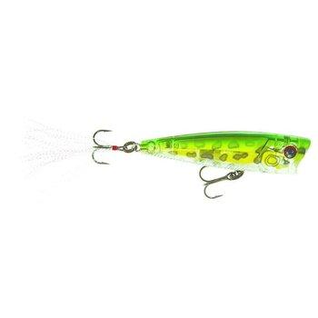 Yo-Zuri Yo-Zuri R1101PF 3DB Popper, 3'', 3/8 oz, Prism Frog, Floating