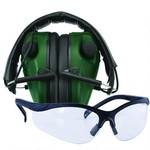 Caldwell E-Max Electronic Hearing Protection and Shooting Glasses Green 487309